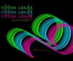 ribbon candy Photoshop Brushes