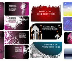 card background templates vector art