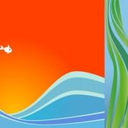 Link toFish illustration background design vector