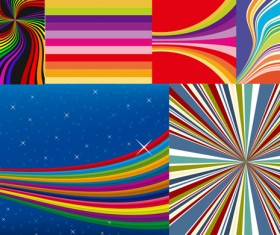 Line related background vector set