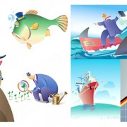 Link toCartoon business illustration vector graphic