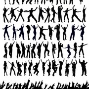 Link toPeople dance silhouette vector art 01