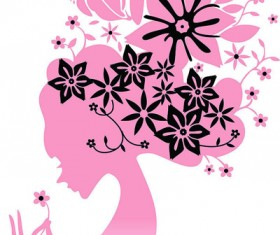 Vector people female silhouette