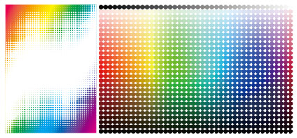 Abstract colored circular background