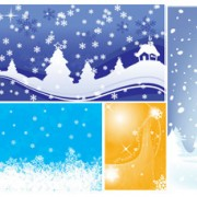 Link toSnow durian background vector set