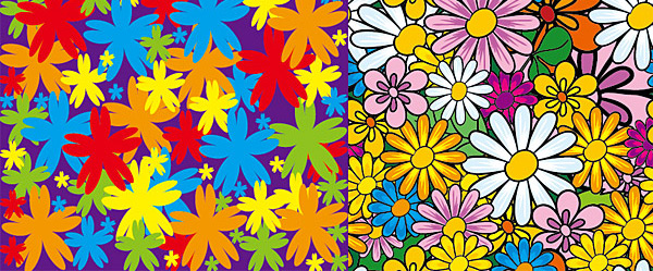 Lovely flowers vector backgorunds