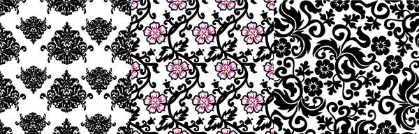 Variety of Decorative pattern background