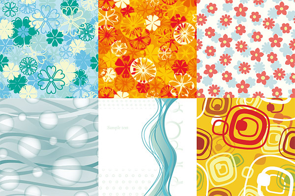 Abstract with floral background vector material