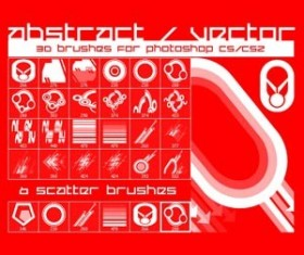 Abstract Set of vector 2 Photoshop Brushes