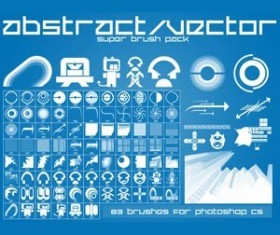 Abstract Set of vector Photoshop Brushes