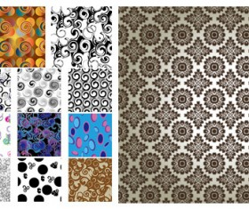 Antique Decorative pattern background vector material