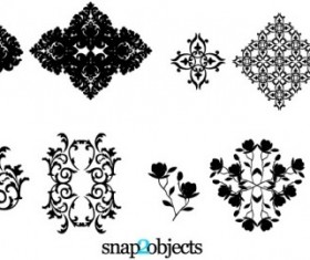 Four Vector Floral Ornaments