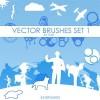 Set of vector Set 1 Photoshop Brushes