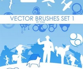 Set of vector Set 1 Photoshop Brushes