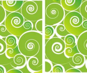 Green Spiral background design elements