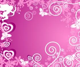 Decorative pattern background art vector