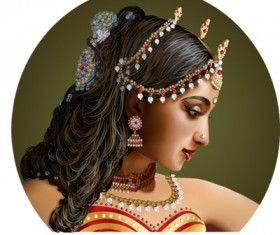 beauty of India vector