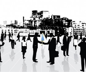 Urban business elite vector