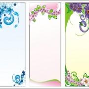 Link toFloral display background set vector
