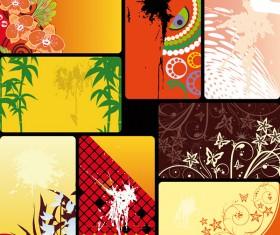 Card background map art vector