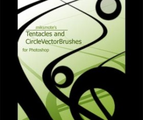 Tentacles and Circle Set of vector Photoshop Brushes