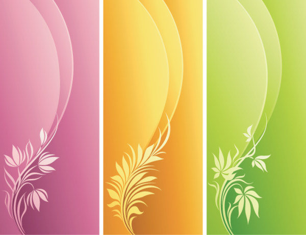 Decorative pattern and dynamic background design elements - Vector ...