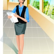 Link toStylish office people set 25 vector