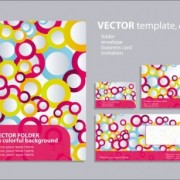 Ring element of background pattern 01 vector