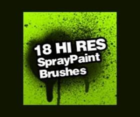 Spray Paint Splatter Photoshop Brushes