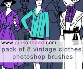 Vintage clothes Photoshop Brushes