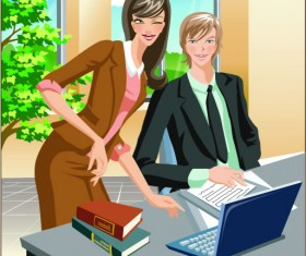 Stylish office people set 37 vector