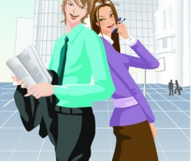 Stylish office people set 38 vector