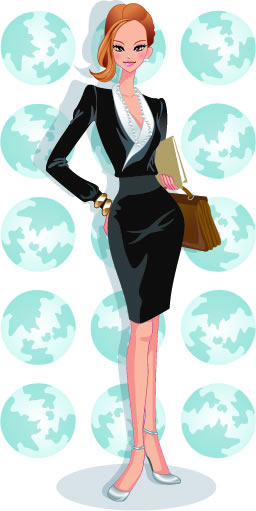 Stylish office people set 43 vector