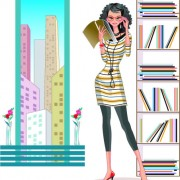 Link toStylish office people set 49 vector