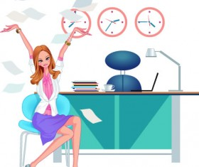 Stylish office people set 50 vector