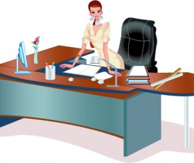 Stylish office people set 51 vector