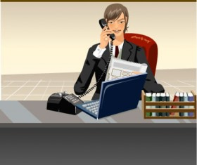 Stylish office people set 53 vector