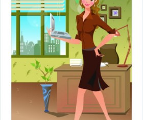 Stylish office people set 54 vector