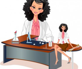 Stylish office people set 55 vector