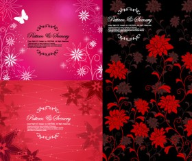 Flowers decorative pattern background vector Graphic