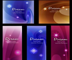Abstract dreamlike patterns design elements