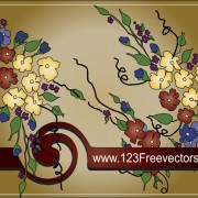 Link toHand-painted floral background vector