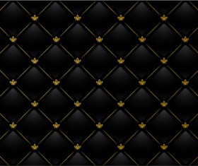 Black grid background vector material