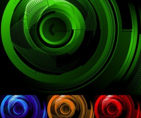 High-tech style background vector graphic