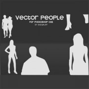Link toSet of vector people photoshop brushes