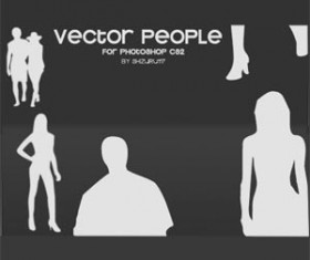 Set of vector People Photoshop Brushes
