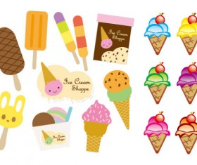 Lovely ice cream Vector Graphic