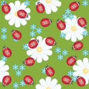 Link toLadybug flower background vector
