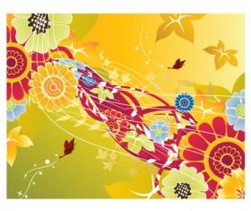 Creative floral background art