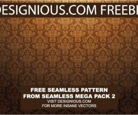Continuous decorative pattern background vector